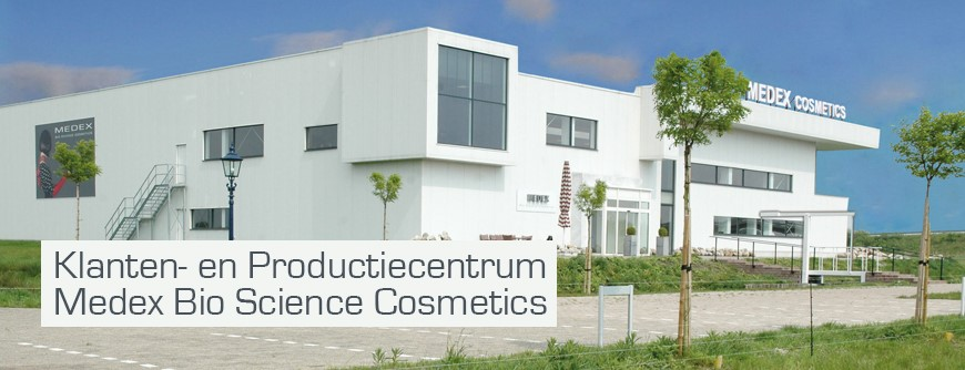 Medex Bio Science Cosmetics - Banner Medex Gebäude NL